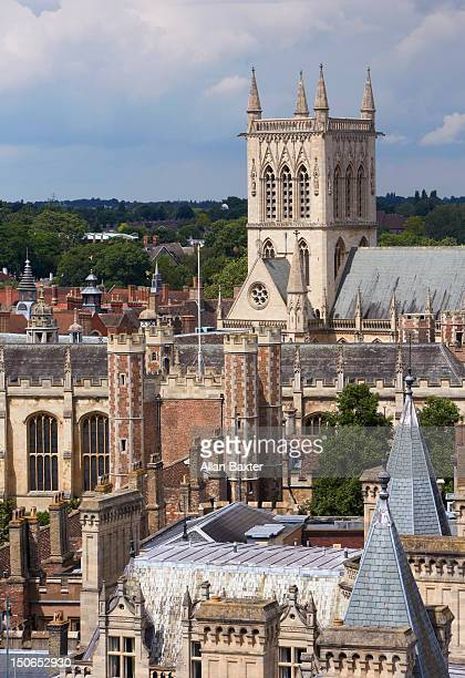 Elevated view of the skyline of Cambridge