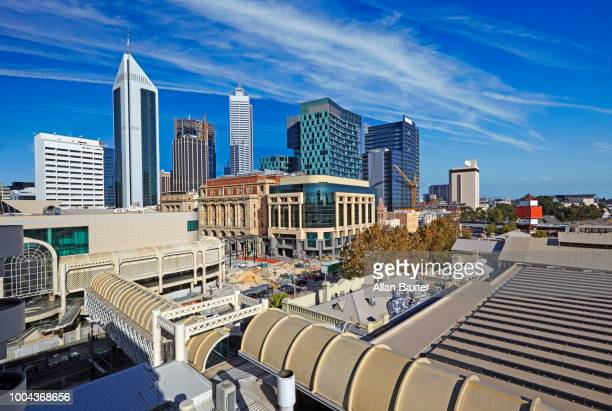Elevated view of the skyline of Perth