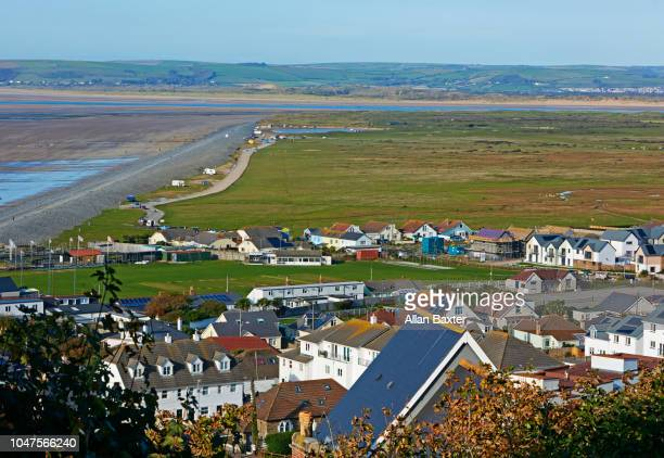 Elevated view of the travel destination of Westwood Ho! North Devon