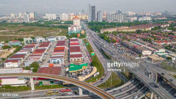 Elevated view of the viaduct at puchong, malaysia