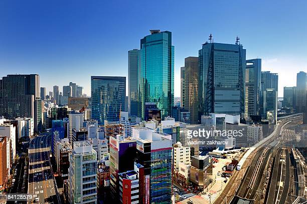 Elevated view of Tokyo downtown