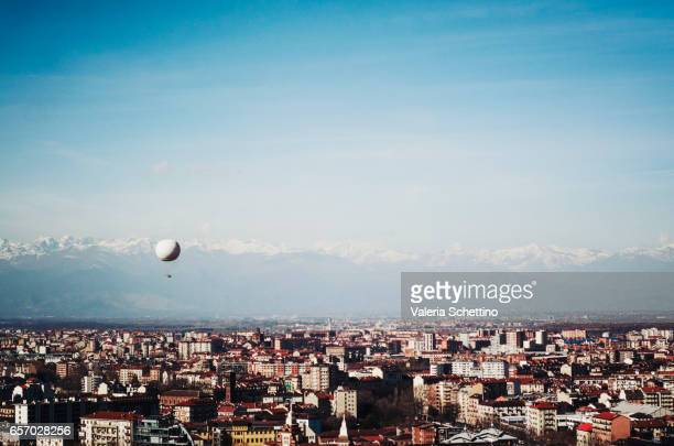 Elevated view of Turin from The Mole Antonelliana