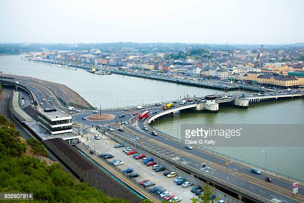 elevated view of waterford city - county waterford ireland stock pictures, royalty-free photos & images