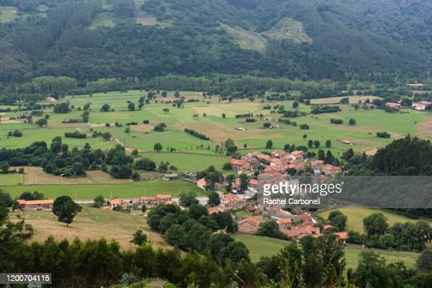 elevated view og the village of carmona from mirador del ribero lookout. - carmona fotografías e imágenes de stock