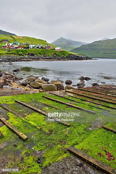 Elevated view on Eiði of  Eysturoy Faroe Islands