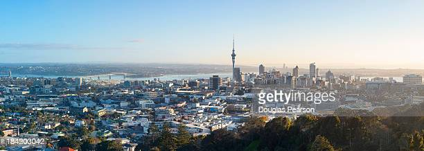 Elevated view over Auckland City Skyline