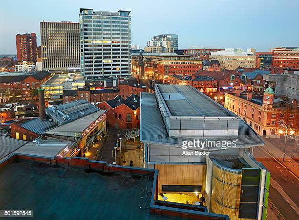 Elevated view over Birmingham