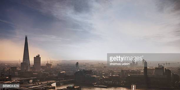 Elevated view over London City