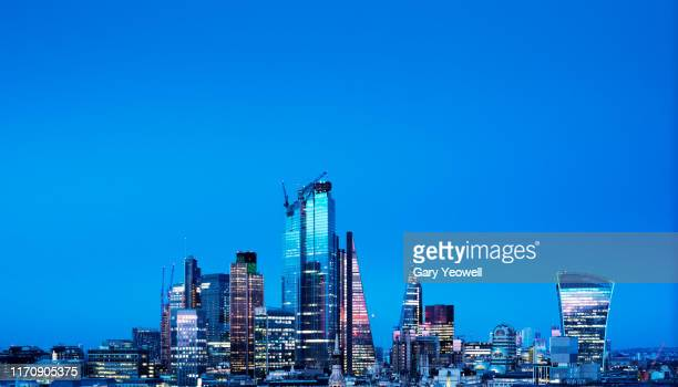 elevated view over london city skyline - cityscape stock pictures, royalty-free photos & images
