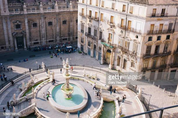 Elevated view over Piazza Pretoria, Palermo