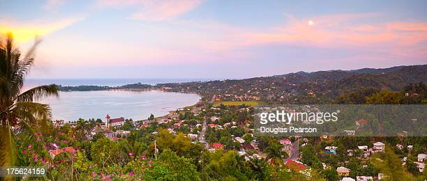 Elevated view over Port Antonio, Jamaica