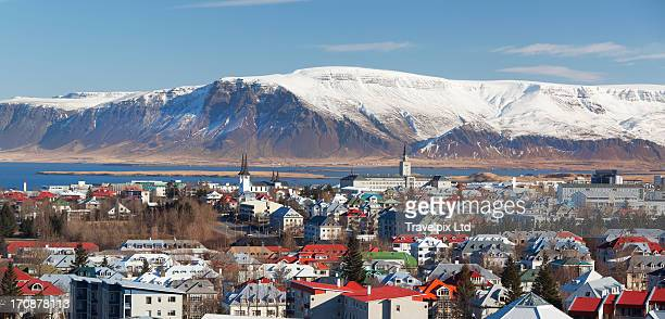 Elevated view over Rekjavik, Iceland