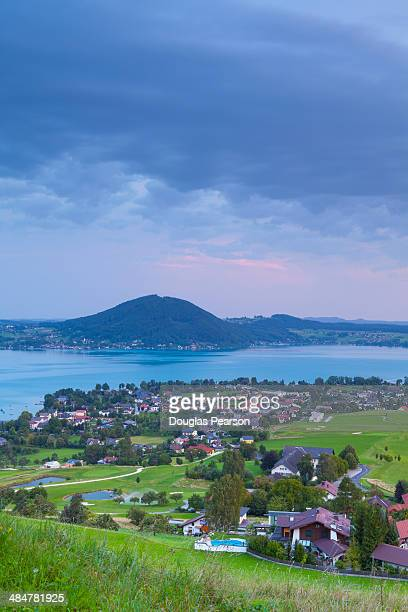 Elevated view over Weyregg am Attersee, Austria