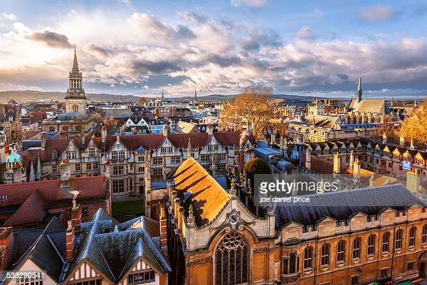 elevated view - oxford england stock pictures, royalty-free photos & images