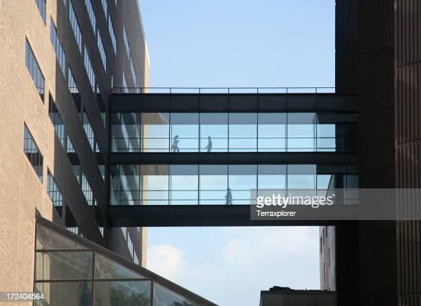 Elevated Walkway Connecting Office Buildings