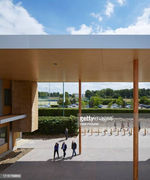 Elevation from first floor towards circulation courtyard The Enterprise Centre UEA Norwich United Kingdom Architect Architype Limited 2015