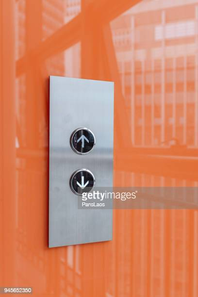 elevator arrows button - push button stock pictures, royalty-free photos & images