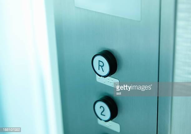 Elevator buttons,close up