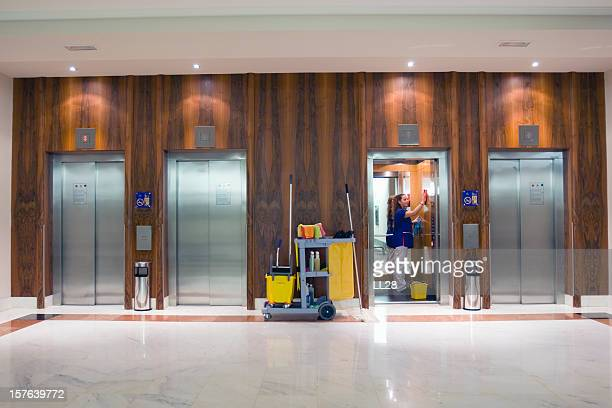elevator clean up - commercial cleaning stock photos and pictures