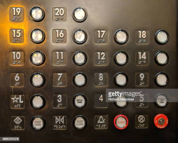elevator control panel - push button stock pictures, royalty-free photos & images