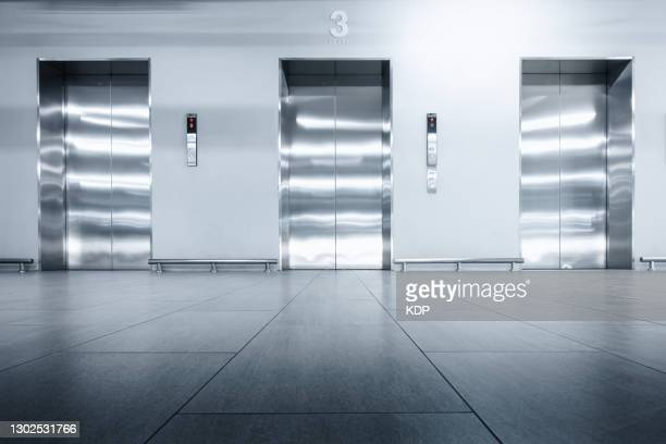 elevator hallway in modern shopping mall. - number 3 stock pictures, royalty-free photos & images