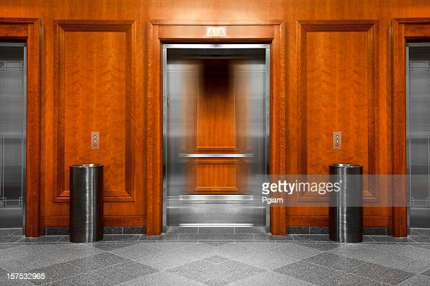 Elevator in a modern office building