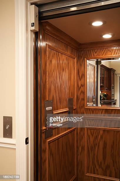 Elevator in residential home.