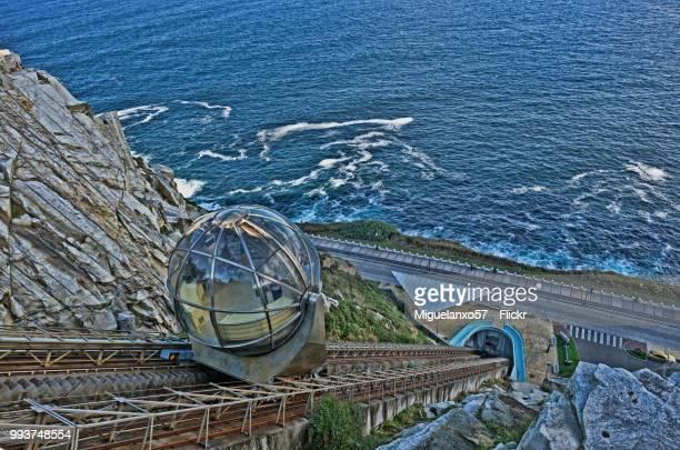 elevator of monte de san pedro, a coruna (galiica, spain) - a coruña stock pictures, royalty-free photos & images
