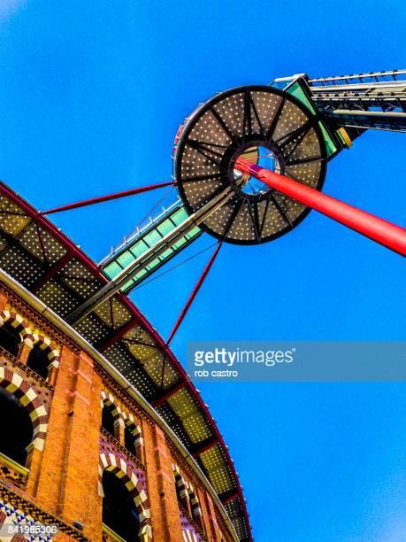 elevator of the arena in plaza de toros de las arenas - rob castro stock pictures, royalty-free photos & images