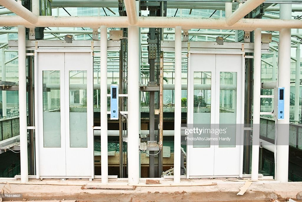 Elevator Shaft Under Construction Stock Photo Getty Images
