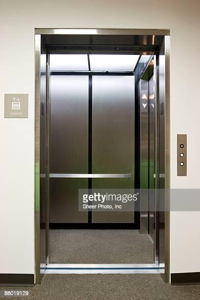 Elevator with door open