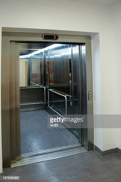 Elevator with doors open