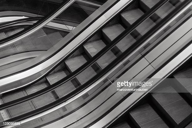 Elevators - Escalators - Lifts - Abstract black and white
