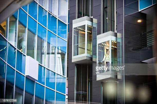 Elevators Inside Modern Office Building