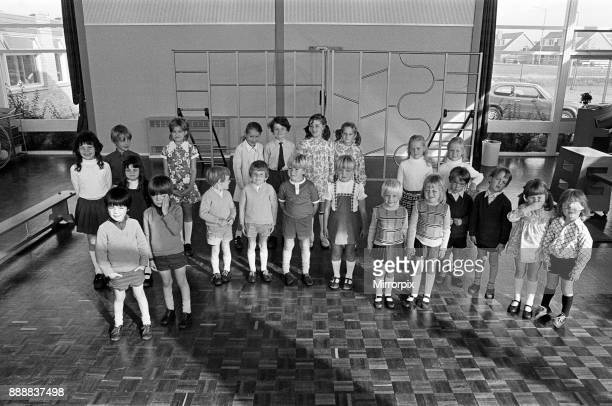Eleven sets of twins at Bader School, 1973.