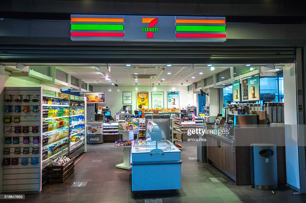 7 Eleven Store at Oslo Train Station, Norway : Stock Photo