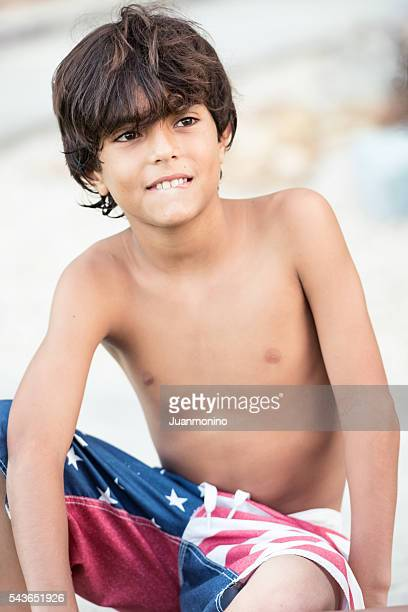 Eleven years old little boy