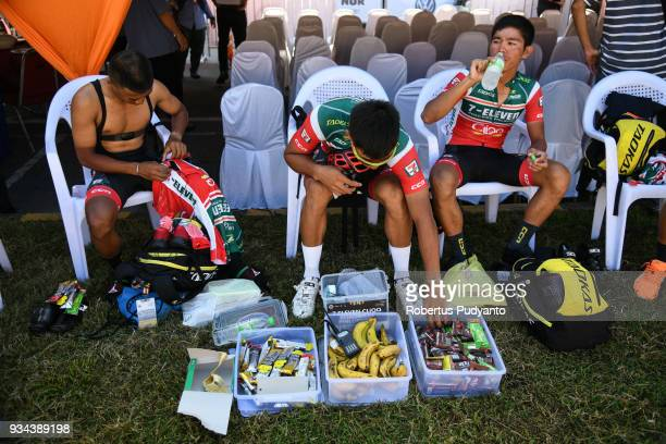 ElevenCliqq Roadbike Philippines riders prepares during Stage 2 of the Le Tour de Langkawi 2018 GerikKota Bharu 2083 km on March 19 2018 in Langkawi...