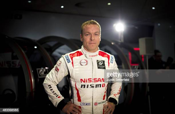 Eleventime world and sixtime Olympic champion Sir Chris Hoy attends a press conference to announce he will complete a full season driving for Nissan...