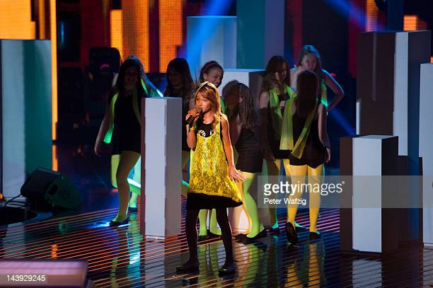 Elevenyearold Selina performs during DSDS Kids 1st Show at Coloneum on May 05 2012 in Cologne Germany