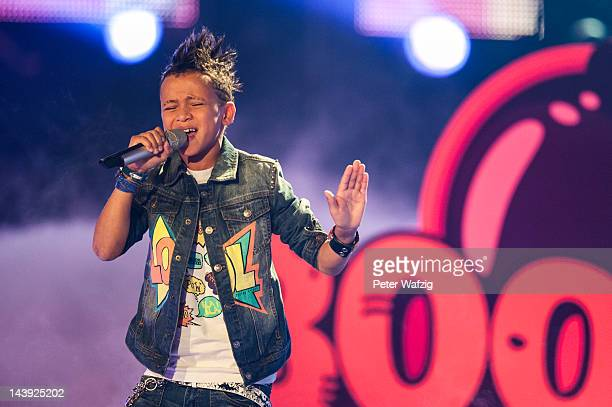 Elevenyearold Timmy performs during DSDS Kids 1st Show at Coloneum on May 05 2012 in Cologne Germany