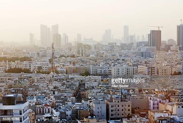 elevtaed cityscape of manama - bahrain stock-fotos und bilder