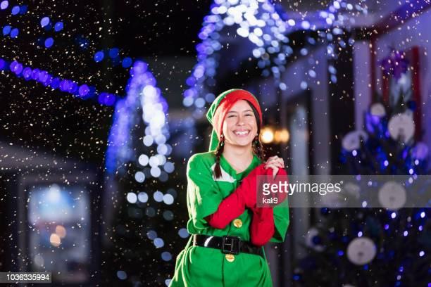 elf at winter festival - southern christmas stock pictures, royalty-free photos & images