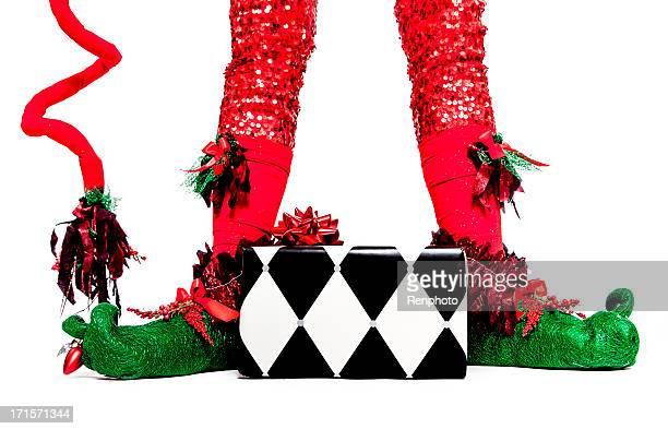 Elf Feet and Christmas Gift
