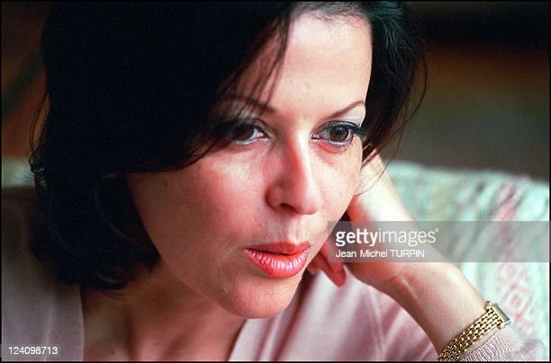 Elf kickback scandal Fatima Belaid former wife of Loik le Floch Prigent In Paris France On March 21 2002