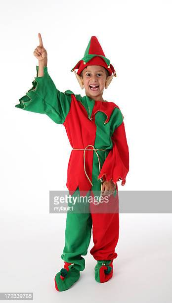elf pointing up