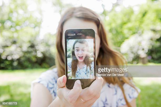 elf portrait taken on mobile phone. - self portrait photography stock pictures, royalty-free photos & images