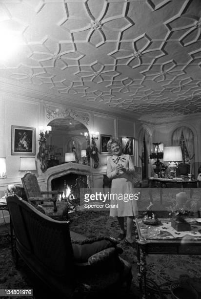 Elfie Teiner at home in Brookline, Brookline, Massachusetts, 1971.