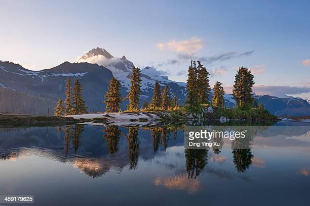 Elfin Lake at Sunset