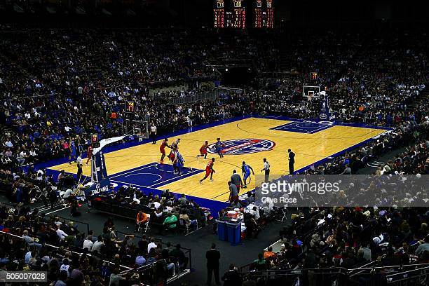 Elfrid Payton of the Orlando Magic dribbles during the 2016 NBA Global Games London match between Toronto Raptors and Orlando Magic at The O2 Arena...